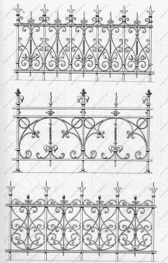 Рисунки ограждений балконов.