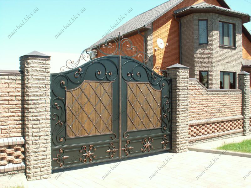 фото металлических ворот для частных домов