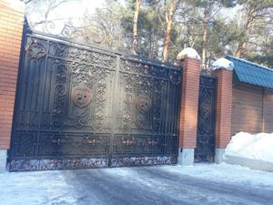 Кованые ворота фото №18