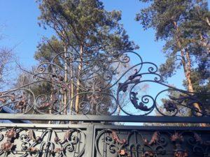 Кованые ворота фото №19