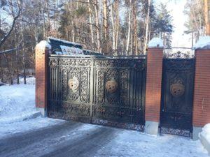 Кованые ворота фото №20