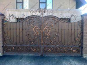 Кованые ворота фото №22