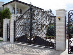 Кованые ворота фото №24