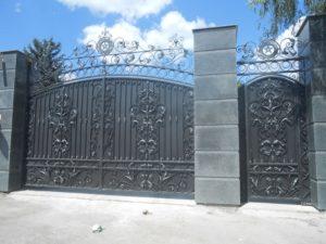 Кованые ворота фото №25