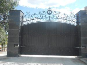 Кованые ворота фото №26