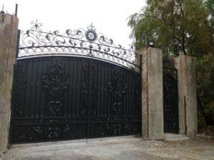Кованые ворота фото №27