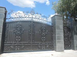 Кованые ворота фото №28