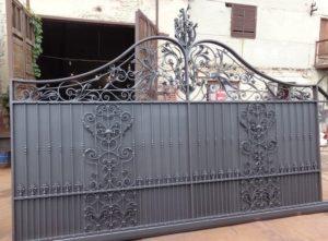 Кованые ворота фото №29