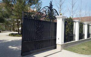 Кованые ворота фото №31