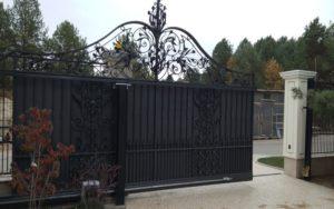 Кованые ворота фото №32