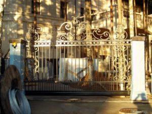 Кованые ворота фото №33