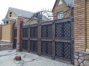 Кованые ворота фото №35
