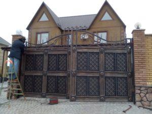Кованые ворота фото №36
