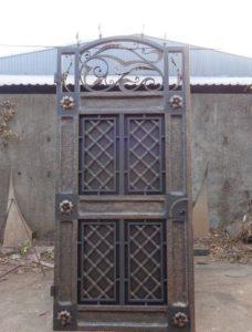 Кованые ворота фото №40