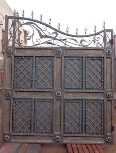 Кованые ворота фото №39