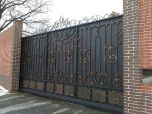 Кованые ворота фото №41