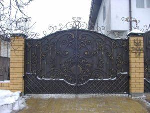 Кованые ворота фото №42
