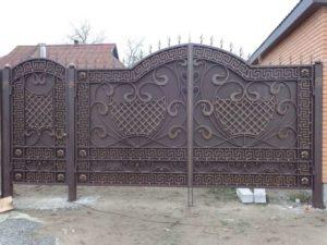 Кованые ворота фото №43
