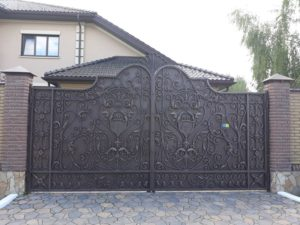 Кованые ворота фото №44