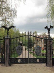 Кованые ворота фото №45