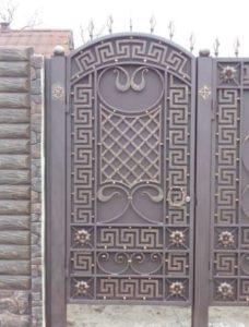 Кованые ворота фото №47