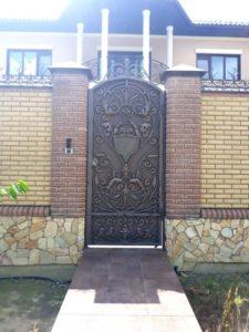 Кованые ворота фото №48