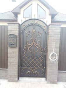Кованые ворота фото №50