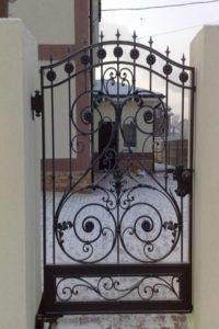 Кованые ворота фото №52