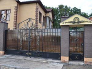 Кованые ворота фото №54
