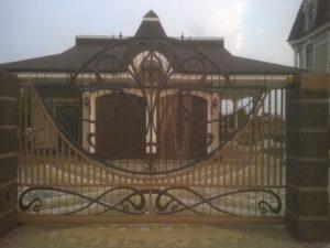 Кованые ворота фото №55