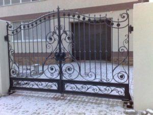Кованые ворота фото №56