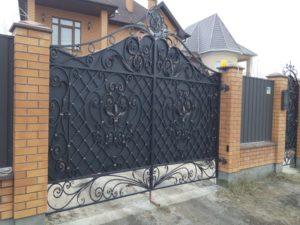 Кованые ворота фото №57