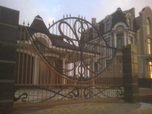 Кованые ворота фото №59