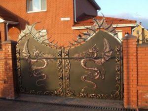 Кованые ворота фото №58