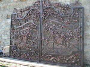 Кованые ворота фото №61
