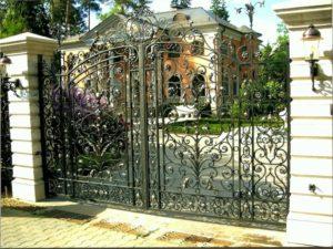 Кованые ворота фото №62
