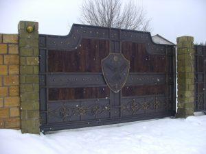 Кованые ворота фото №63