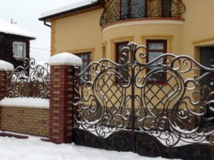 Кованые ворота фото №64