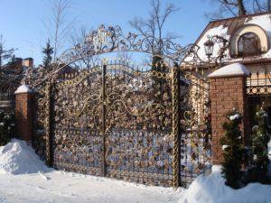 Кованые ворота фото №65