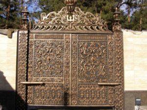 Кованые ворота фото №66
