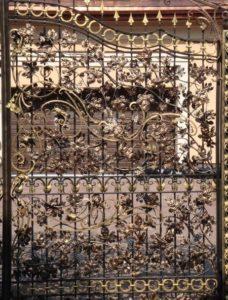 Кованые ворота фото №69