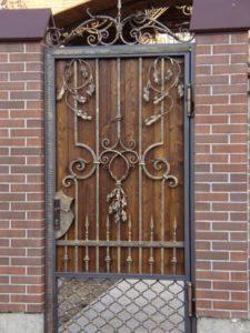 Кованые ворота фото №71