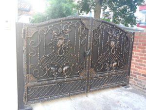 Кованые ворота фото №73