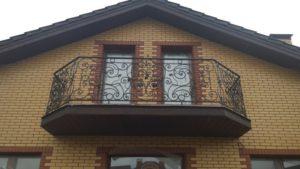 Кованые балконы фото №48
