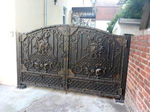 Кованые ворота фото №74