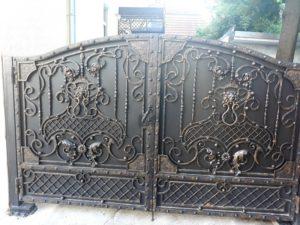 Кованые ворота фото №75