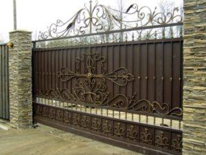 Кованые ворота фото №76