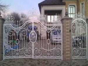 Кованые ворота фото №77