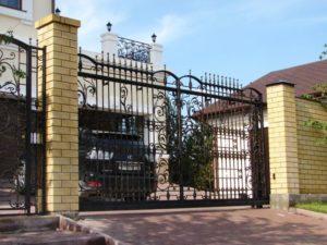 Кованые ворота фото №78