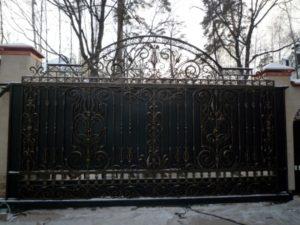 Кованые ворота фото №79